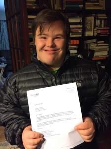 Colton acceptance letter